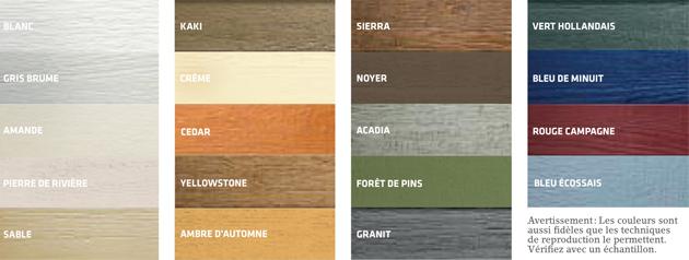 Choix de couleur canexel for Revetement exterieur couleur